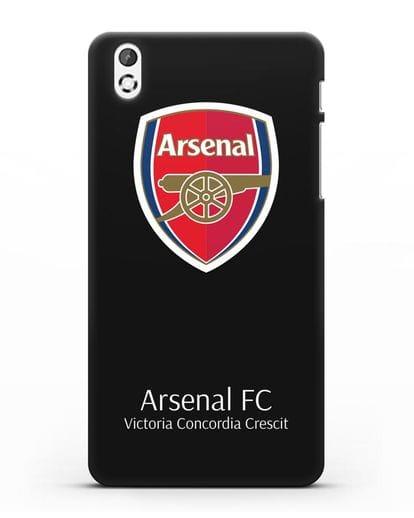 Чехол с логотипом ФК Арсенал Лондон силикон черный для HTC Desire 816