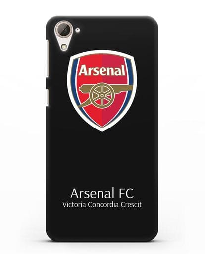Чехол с логотипом ФК Арсенал Лондон силикон черный для HTC Desire 826
