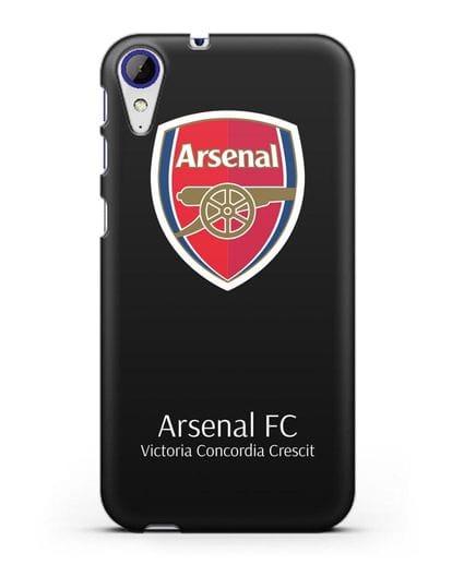 Чехол с логотипом ФК Арсенал Лондон силикон черный для HTC Desire 830