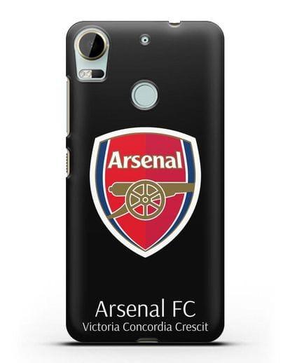 Чехол с логотипом ФК Арсенал Лондон силикон черный для HTC Desire 10 Pro