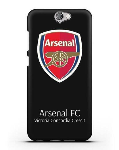 Чехол с логотипом ФК Арсенал Лондон силикон черный для HTC One A9