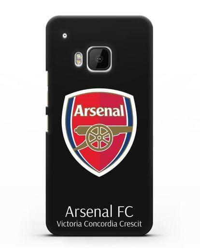 Чехол с логотипом ФК Арсенал Лондон силикон черный для HTC One M9