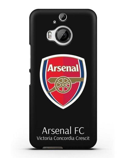 Чехол с логотипом ФК Арсенал Лондон силикон черный для HTC One M9 Plus