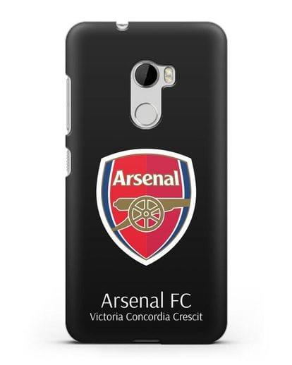 Чехол с логотипом ФК Арсенал Лондон силикон черный для HTC One X10