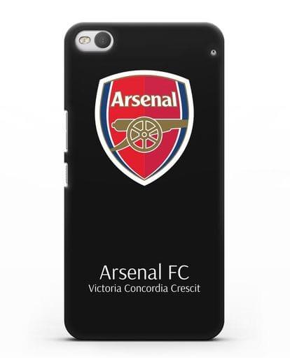 Чехол с логотипом ФК Арсенал Лондон силикон черный для HTC One X9