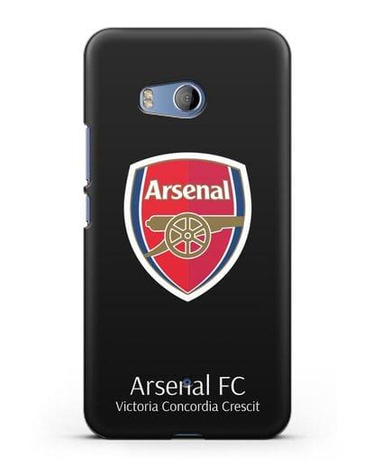 Чехол с логотипом ФК Арсенал Лондон силикон черный для HTC U11