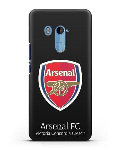 Чехол с логотипом ФК Арсенал Лондон силикон черный для HTC U11 Plus