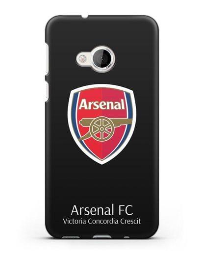 Чехол с логотипом ФК Арсенал Лондон силикон черный для HTC U Play
