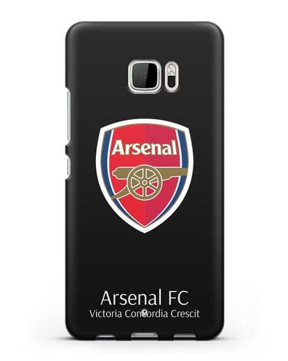 Чехол с логотипом ФК Арсенал Лондон силикон черный для HTC U Ultra
