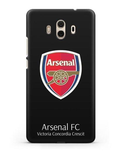 Чехол с логотипом ФК Арсенал Лондон силикон черный для Huawei Mate 10