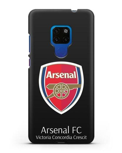 Чехол с логотипом ФК Арсенал Лондон силикон черный для Huawei Mate 20