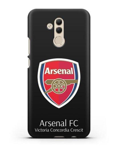 Чехол с логотипом ФК Арсенал Лондон силикон черный для Huawei Mate 20 Lite