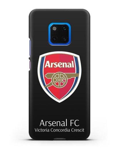 Чехол с логотипом ФК Арсенал Лондон силикон черный для Huawei Mate 20 Pro