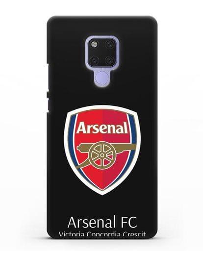 Чехол с логотипом ФК Арсенал Лондон силикон черный для Huawei Mate 20X