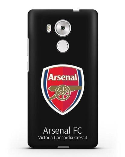 Чехол с логотипом ФК Арсенал Лондон силикон черный для Huawei Mate 8