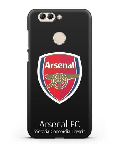 Чехол с логотипом ФК Арсенал Лондон силикон черный для Huawei Nova 2 Plus