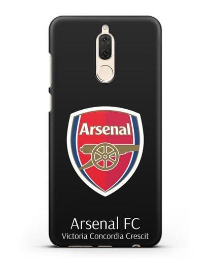 Чехол с логотипом ФК Арсенал Лондон силикон черный для Huawei Nova 2