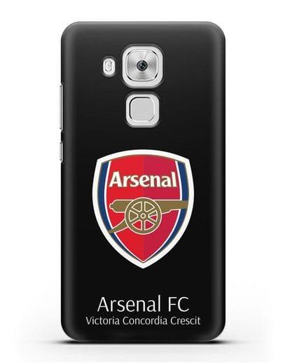 Чехол с логотипом ФК Арсенал Лондон силикон черный для Huawei Nova Plus