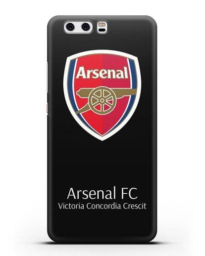 Чехол с логотипом ФК Арсенал Лондон силикон черный для Huawei P10
