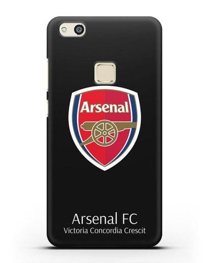Чехол с логотипом ФК Арсенал Лондон силикон черный для Huawei P10 Lite