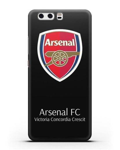 Чехол с логотипом ФК Арсенал Лондон силикон черный для Huawei P10 Plus