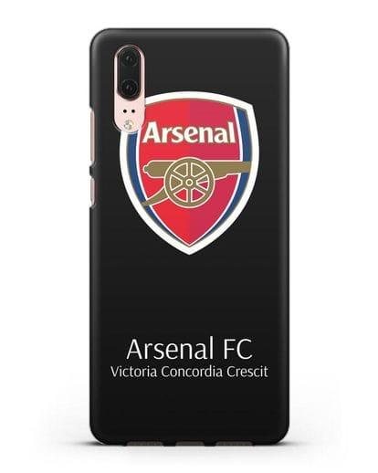 Чехол с логотипом ФК Арсенал Лондон силикон черный для Huawei P20
