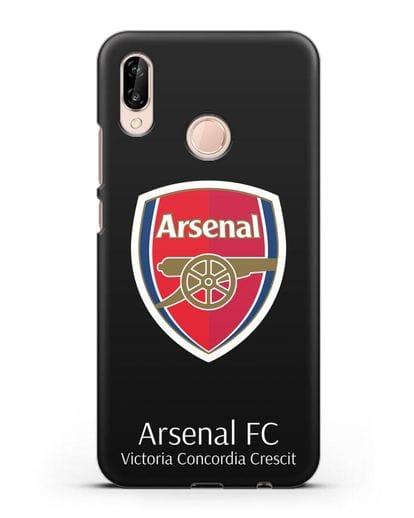 Чехол с логотипом ФК Арсенал Лондон силикон черный для Huawei P20 Lite