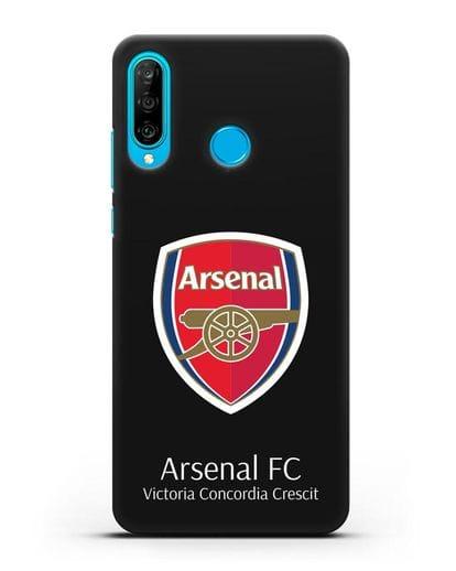 Чехол с логотипом ФК Арсенал Лондон силикон черный для Huawei P30 Lite