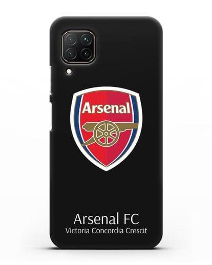 Чехол с логотипом ФК Арсенал Лондон силикон черный для Huawei P40 lite