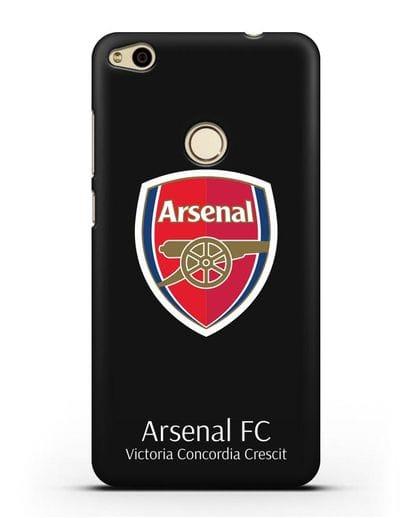 Чехол с логотипом ФК Арсенал Лондон силикон черный для Huawei P8 Lite 2017