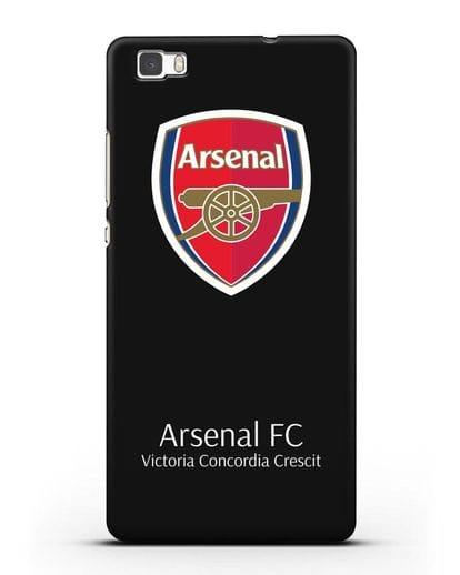 Чехол с логотипом ФК Арсенал Лондон силикон черный для Huawei P8 Lite