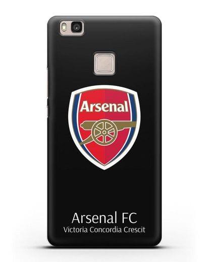 Чехол с логотипом ФК Арсенал Лондон силикон черный для Huawei P9 Lite
