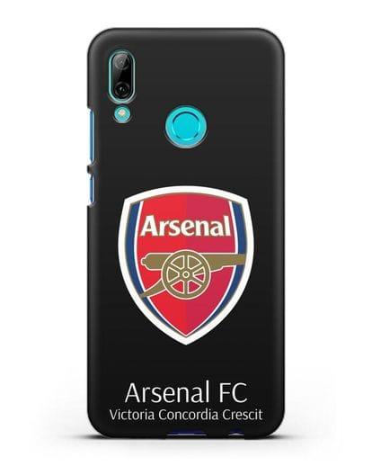 Чехол с логотипом ФК Арсенал Лондон силикон черный для Huawei P Smart 2019