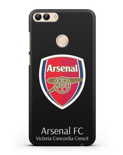 Чехол с логотипом ФК Арсенал Лондон силикон черный для Huawei P Smart