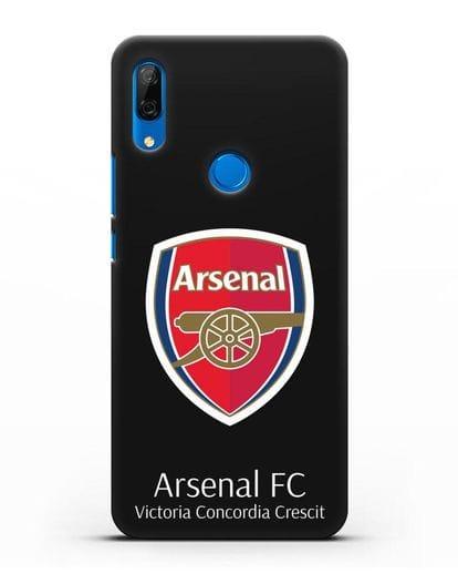 Чехол с логотипом ФК Арсенал Лондон силикон черный для Huawei P Smart Z