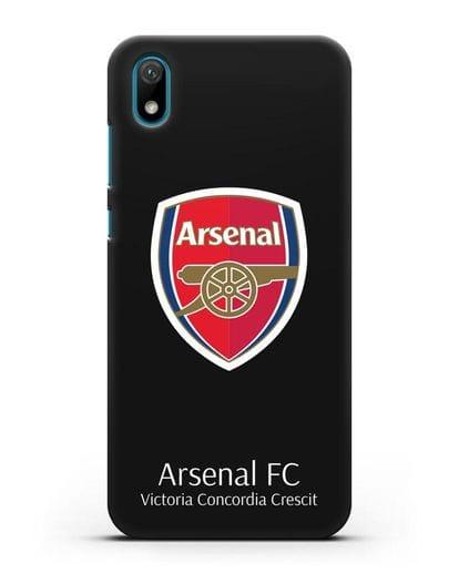 Чехол с логотипом ФК Арсенал Лондон силикон черный для Huawei Y5 2019