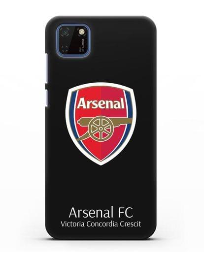 Чехол с логотипом ФК Арсенал Лондон силикон черный для Huawei Y5P