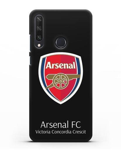Чехол с логотипом ФК Арсенал Лондон силикон черный для Huawei Y6P