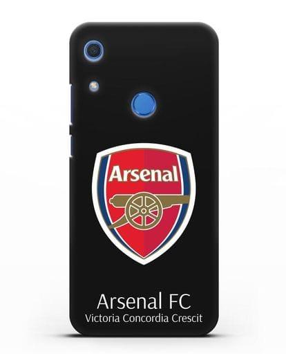 Чехол с логотипом ФК Арсенал Лондон силикон черный для Huawei Y6s