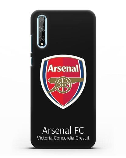 Чехол с логотипом ФК Арсенал Лондон силикон черный для Huawei Y8P