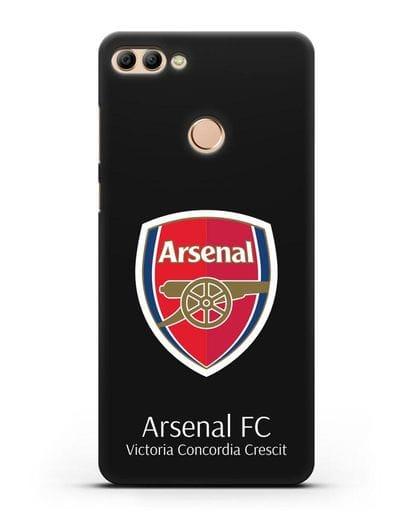 Чехол с логотипом ФК Арсенал Лондон силикон черный для Huawei Y9 2018