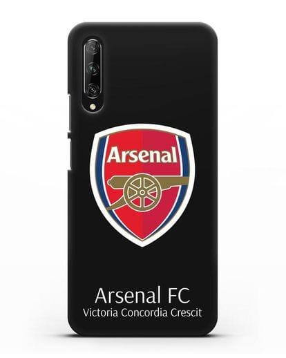 Чехол с логотипом ФК Арсенал Лондон силикон черный для Huawei Y9s