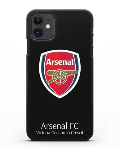 Чехол с логотипом ФК Арсенал Лондон силикон черный для iPhone 11