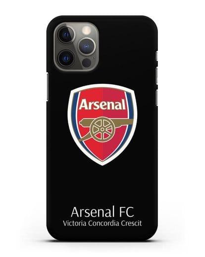 Чехол с логотипом ФК Арсенал Лондон силикон черный для iPhone 12 Pro
