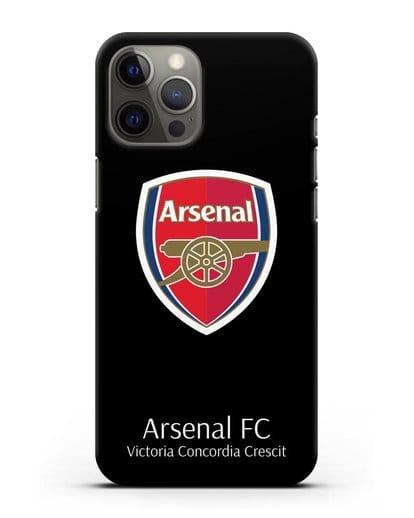 Чехол с логотипом ФК Арсенал Лондон силикон черный для iPhone 12 Pro Max