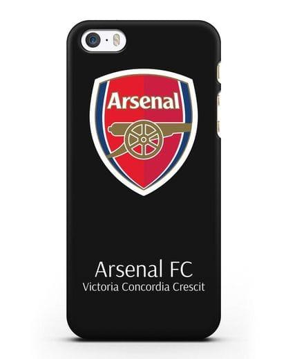 Чехол с логотипом ФК Арсенал Лондон силикон черный для iPhone 5/5s/SE