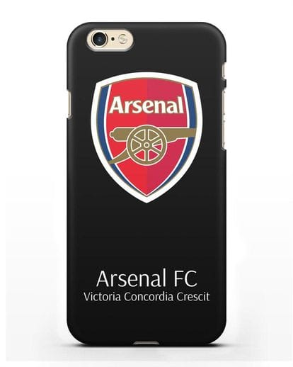 Чехол с логотипом ФК Арсенал Лондон силикон черный для iPhone 6s
