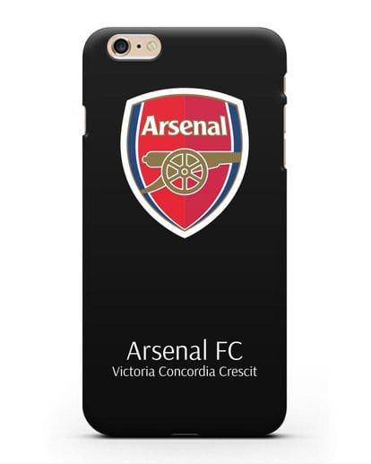 Чехол с логотипом ФК Арсенал Лондон силикон черный для iPhone 6 Plus