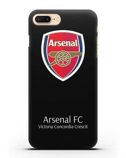 Чехол с логотипом ФК Арсенал Лондон силикон черный для iPhone 7 Plus