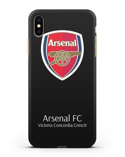 Чехол с логотипом ФК Арсенал Лондон силикон черный для iPhone XS Max